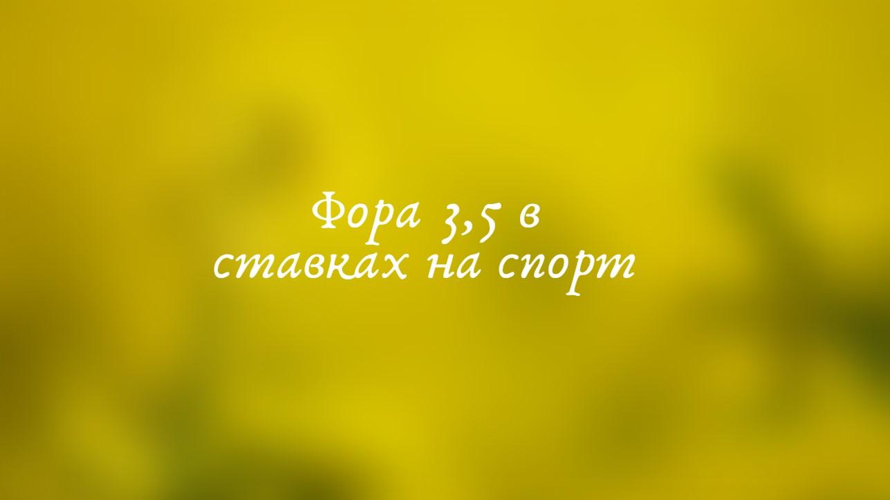 фора 3,5