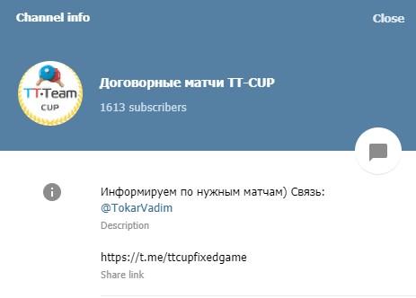 tt-cup информация о канале