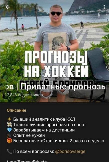 Телеграмм канал Сергея Борисова