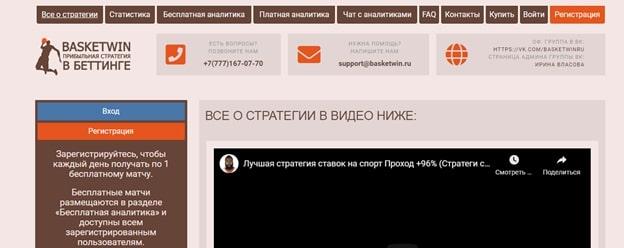 Сайт Basketwin.ru