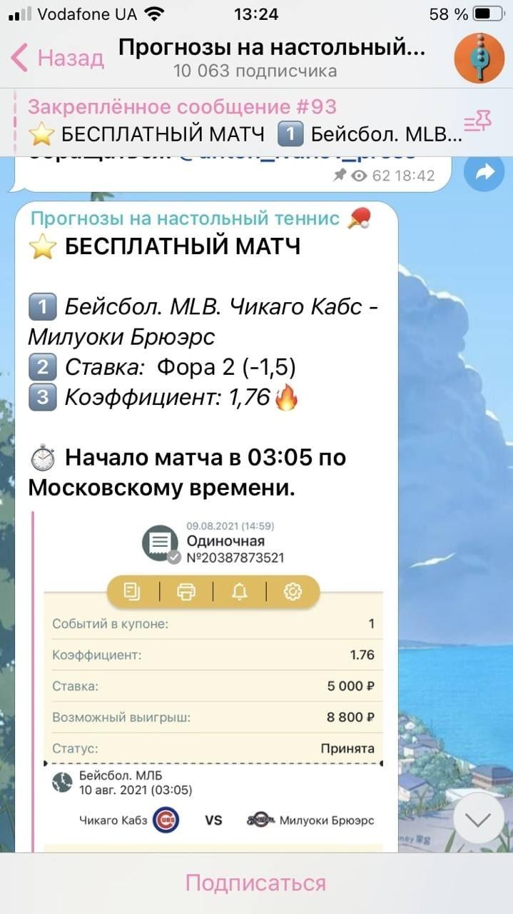Прогнозы на настольный теннис от Антона Иванова