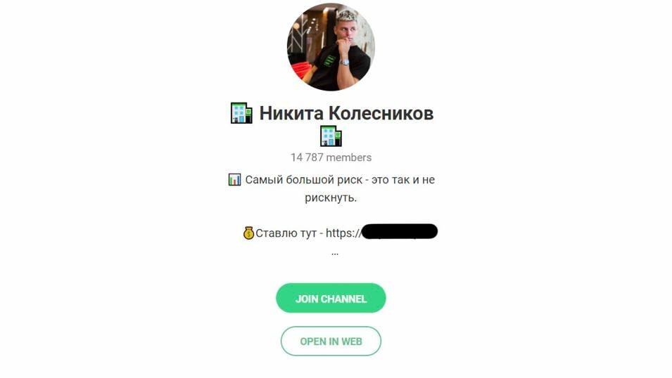 Телеграм Никита Колесников